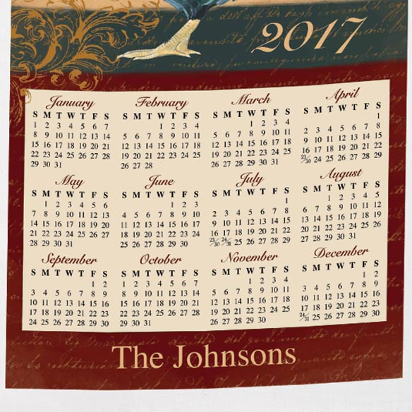 Personalized Rooster Calendar Towel - View 3