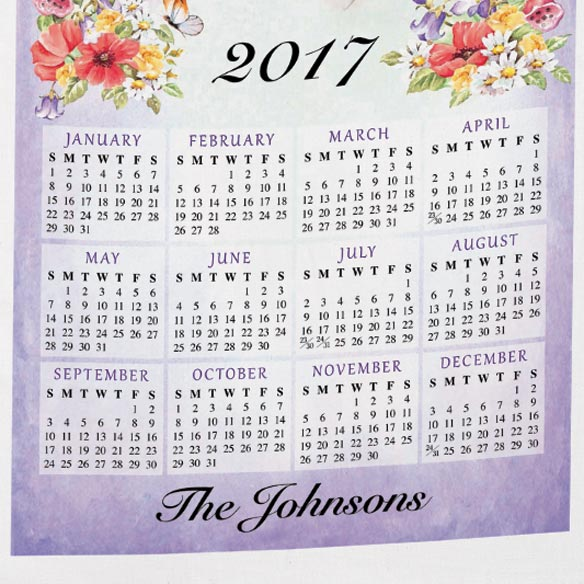 Personalized Gardening Calendar Towel - View 3
