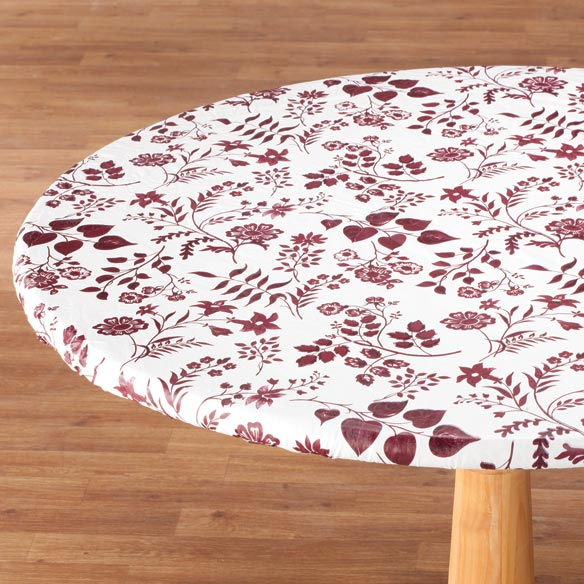 Flowing Flowers Vinyl Elasticized Table Cover - View 2
