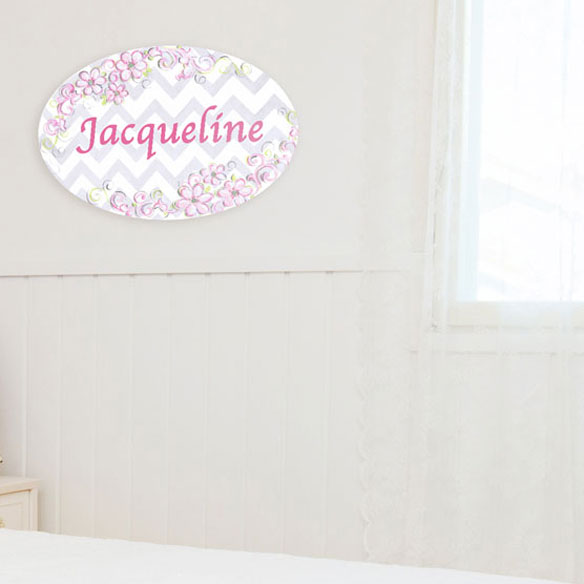 Personalized Pink Daisy Name Plaque - View 2