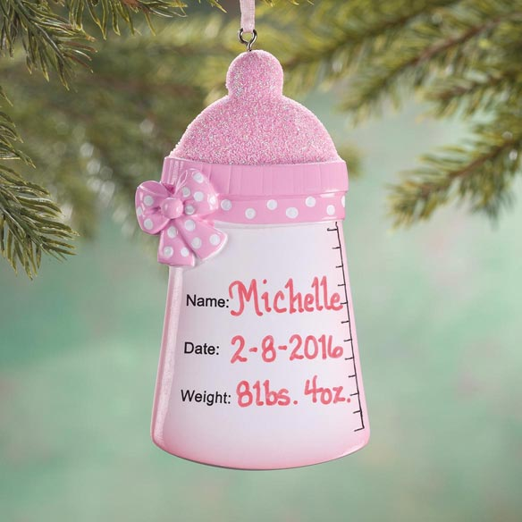 Personalized Baby Bottle Ornament - View 2