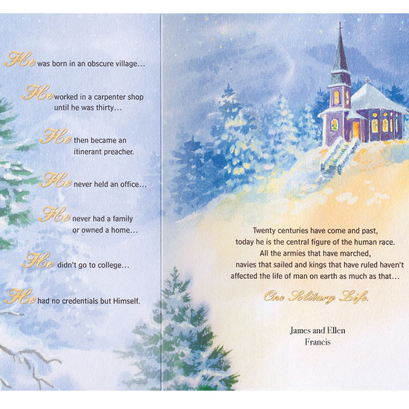 One Solitary Life Christmas Card - Set of 20 - View 3