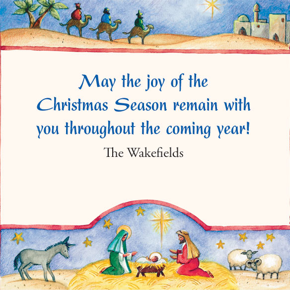 2017 Religious Folk Art Calendar Christmas Card Set of 20 - View 2