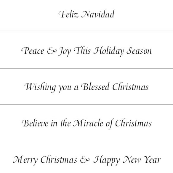 Personalized Golden December Holiday Cards - Set of 18 - View 4