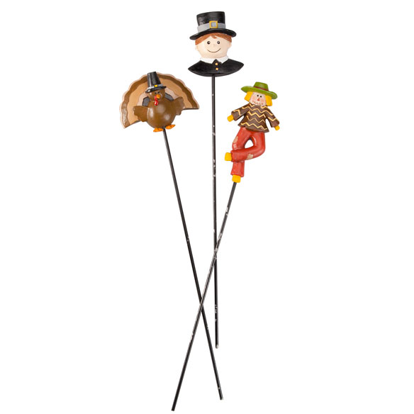 Fall Plant Stakes by Maple Lane Creations™ - Set of 3 - View 2