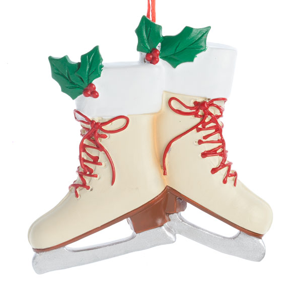 Personalized Vintage Skates Ornament - View 2