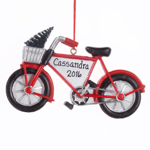 Personalized Bike with Tree Ornament - View 2
