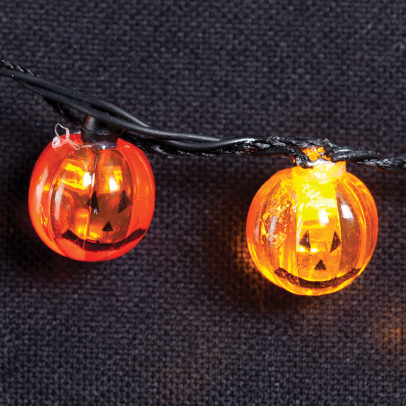 Flashing Pumpkins Necklace - View 2