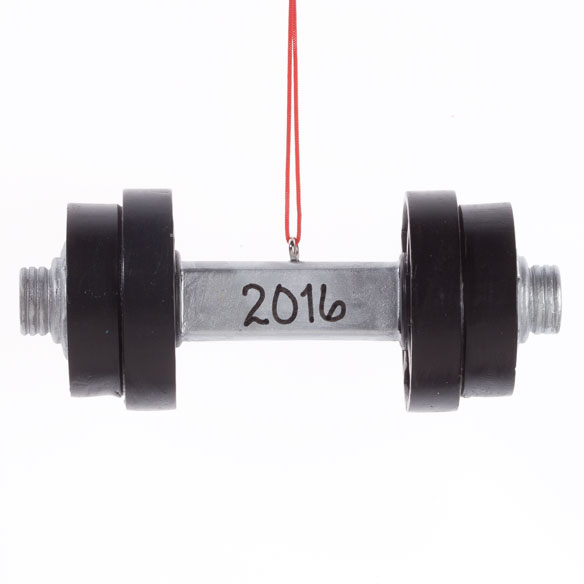 Personalized Dumbbell Ornament - View 2