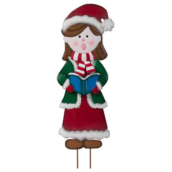 Metal Garden Girl Caroler by Maple Lane Creations™ - View 2
