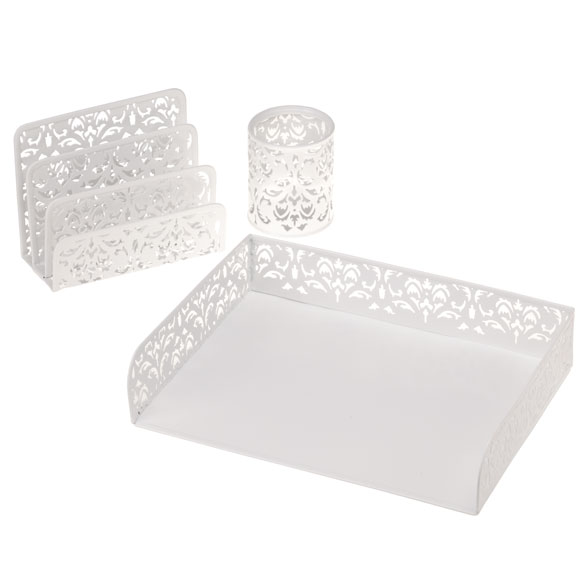 Damask Desktop Accessories, Set of 3 - View 2