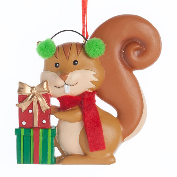Woodland Squirrel Ornament - View 2