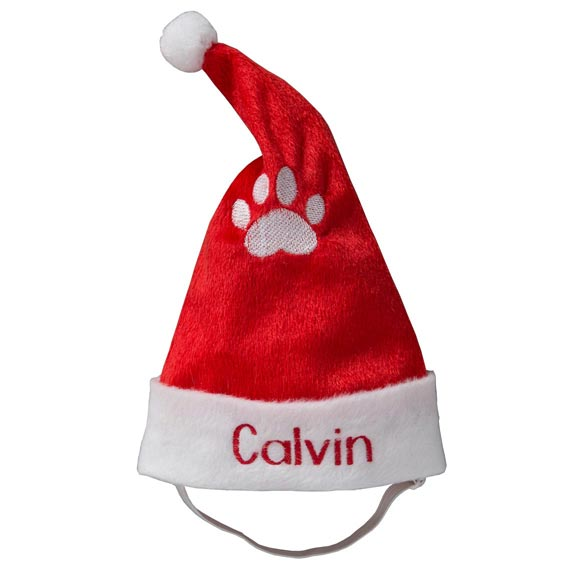 Personalized Santa Pet Hat - View 2