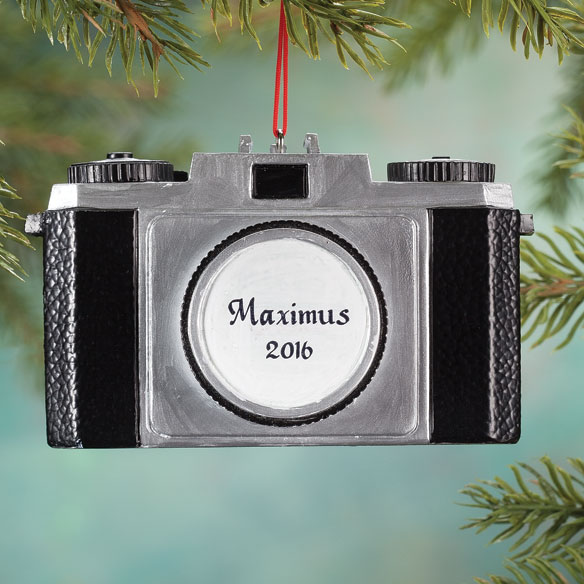 Personalized Camera Ornament - View 2