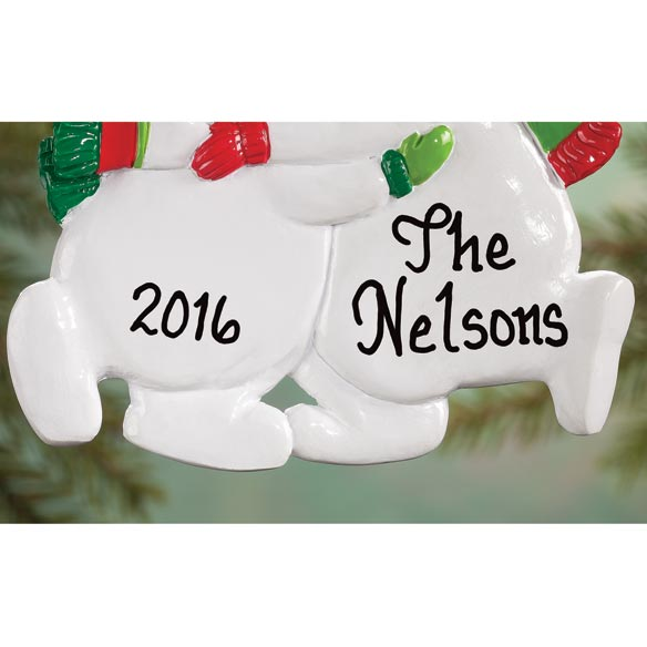 Personalized Snowman Family Ornaments - View 4