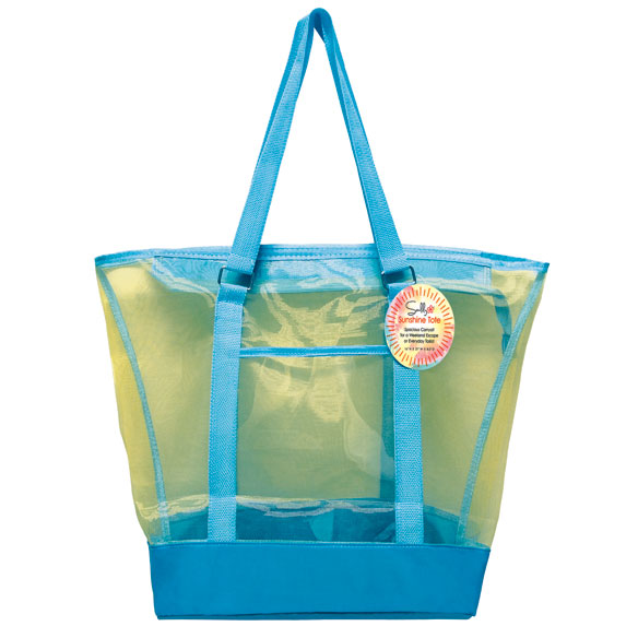 Colorful Mesh Beach Tote - View 2