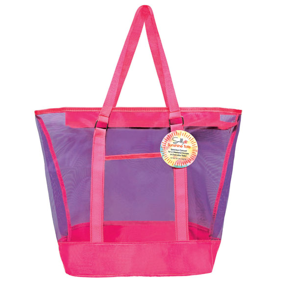 Colorful Mesh Beach Tote - View 3