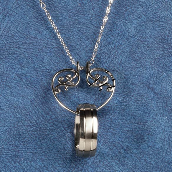 heart ring holder pendant necklace ring holder miles