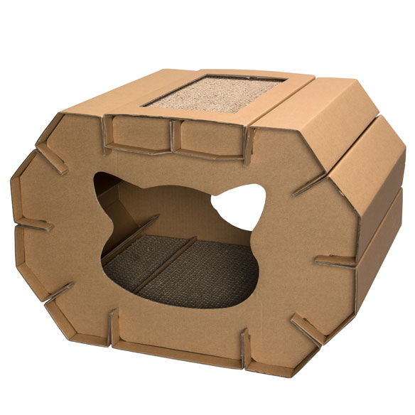 Cardboard Cat House - View 2