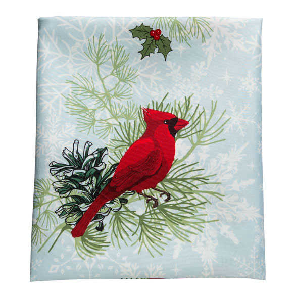 Christmas Cardinal Shower Curtain - View 2