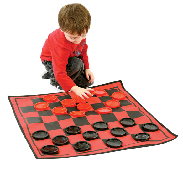 3-in-1 Giant Checkers Game - View 2