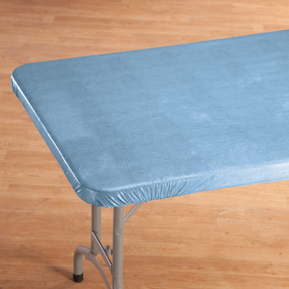 Illusion Weave Vinyl Elasticized Banquet Tablecover - View 4