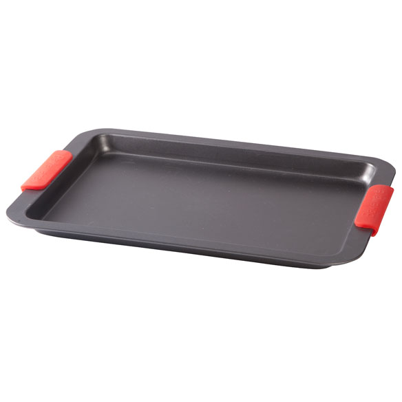 Baking Sheet with Red Silicone Handles by Home-Style Kitchen™ - View 2