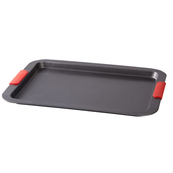 Large Baking Sheet with Red Silicone Handles by Home-Style Kitchen™ - View 2