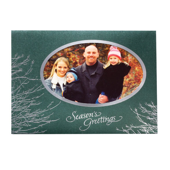 Silver Boughs Holiday Cards - Set of 18 - View 2