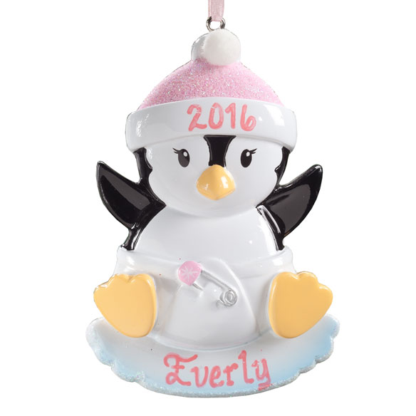 Personalized Baby Penguin Ornament - View 3