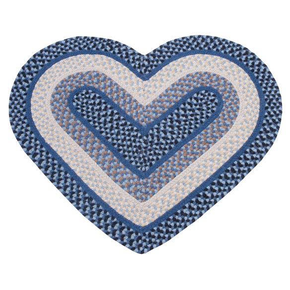 Wool Heart Shaped Accent Rug - View 2