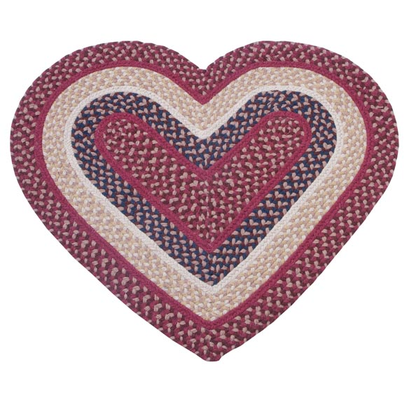 Wool Heart Shaped Accent Rug - View 3