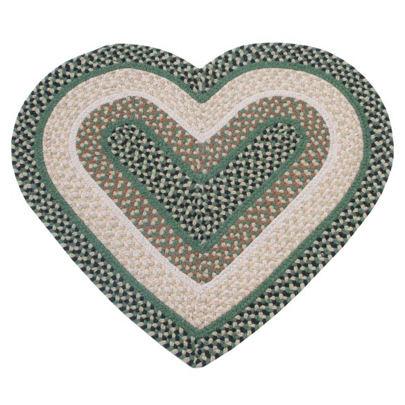 Wool Heart Shaped Accent Rug - View 4