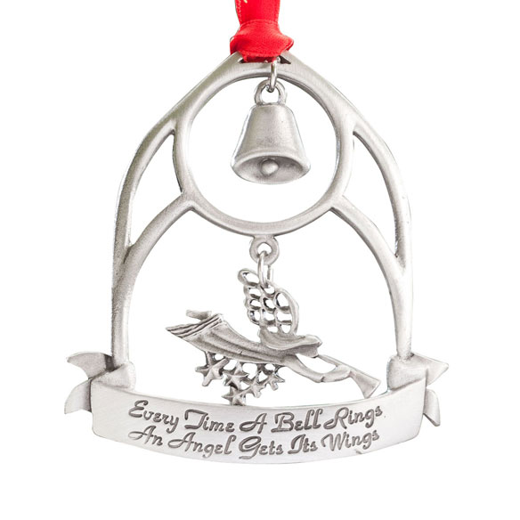 """Every Time a Bell Rings"" Pewter Ornament - View 2"
