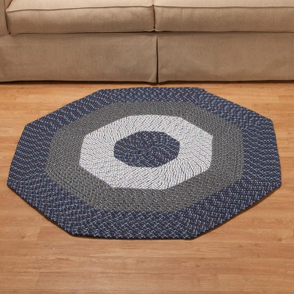 Braided Octagon Accent Rug - View 2