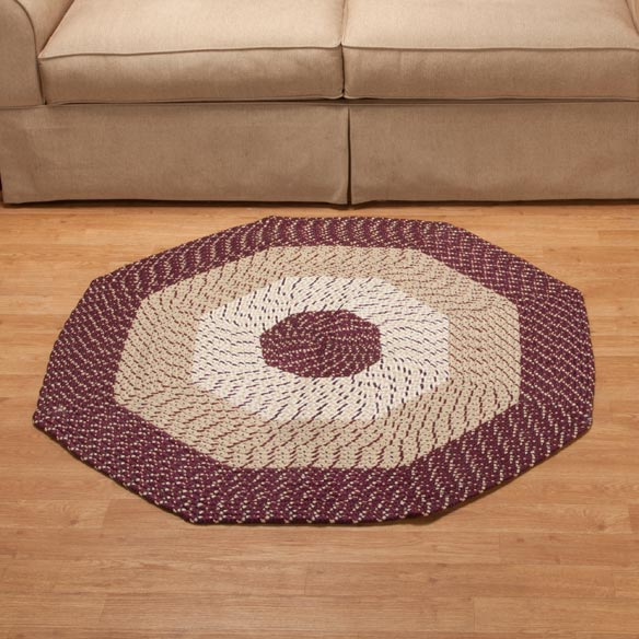 Braided Octagon Accent Rug - View 3