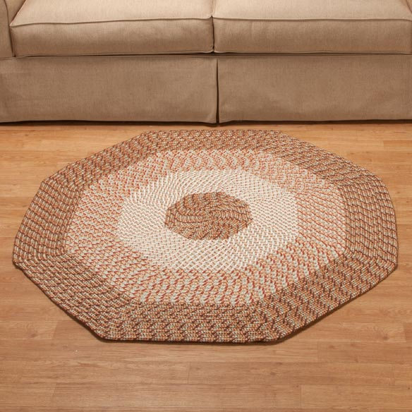 Braided Octagon Accent Rug - View 4
