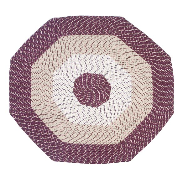 Braided Octagon Accent Rug - View 5