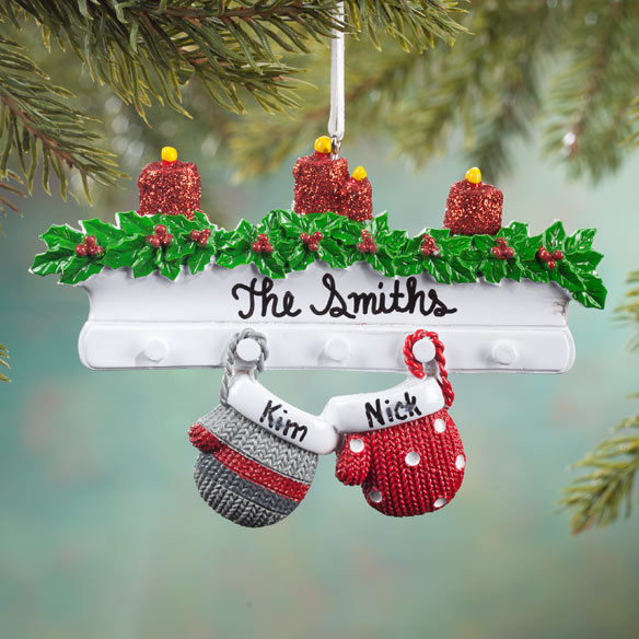Personalized Family Mittens Ornament - View 2