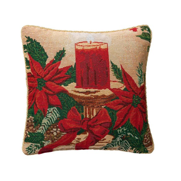 Christmas Candle Pillow Cover - View 2