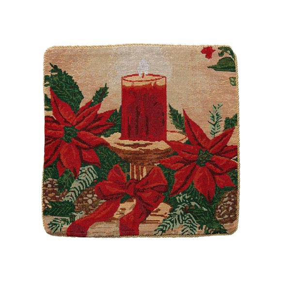 Christmas Candle Pillow Cover - View 3