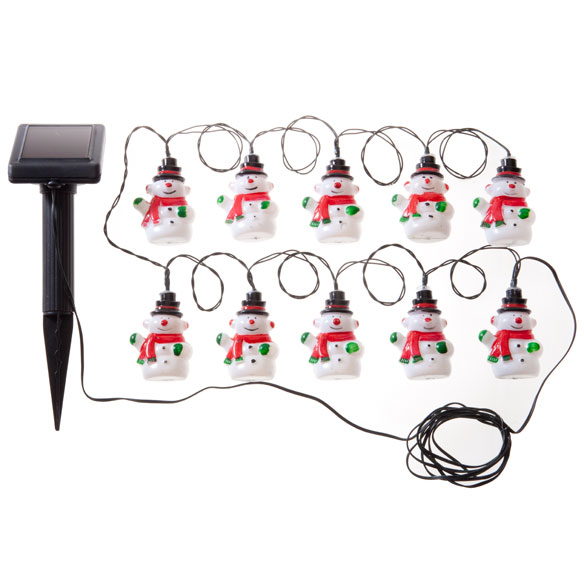Snowman Solar Lights with Stake - View 3