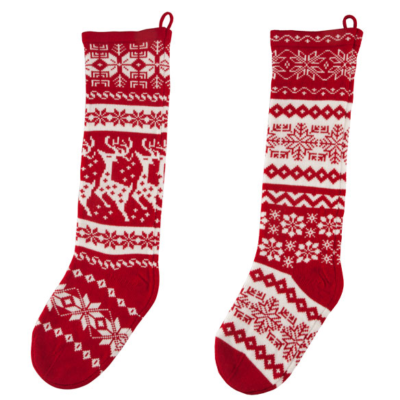 "28"" Knit Stockings - View 2"