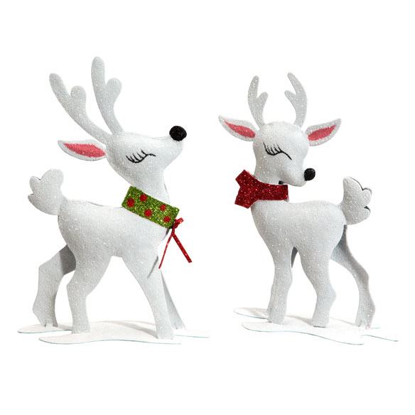 Metal Glitter Reindeer, Set of 2 - View 2