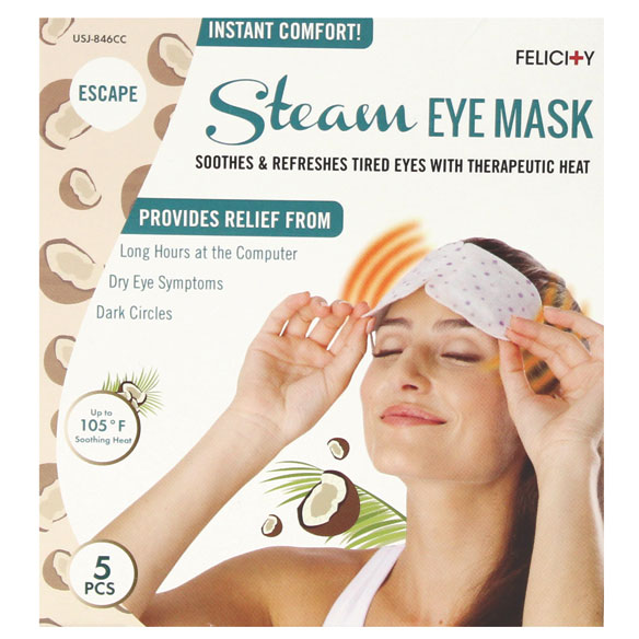 Disposable Steam Eye Masks, Set of 5 - View 2