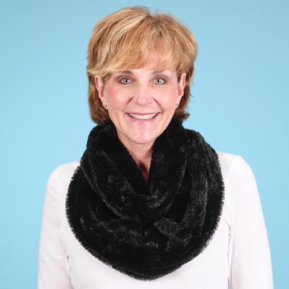 Faux Fur Infinity Scarf - View 3
