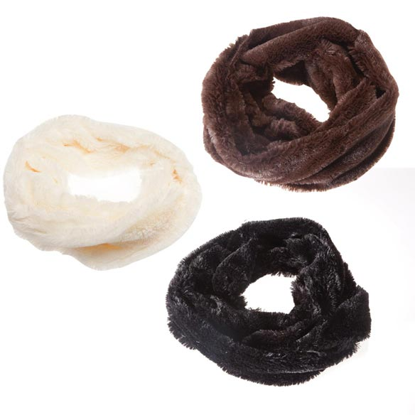 Faux Fur Infinity Scarf - View 4