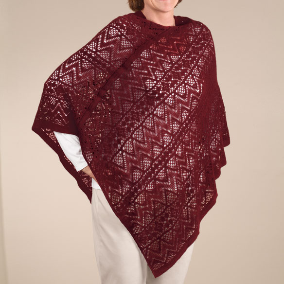 Comfort Weave Knit Poncho - View 2