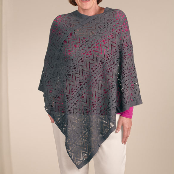 Comfort Weave Knit Poncho - View 3