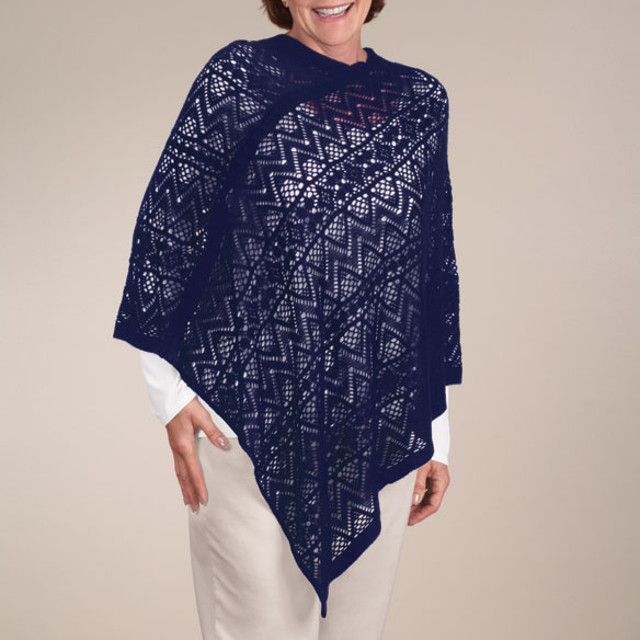 Comfort Weave Knit Poncho - View 4